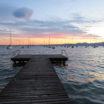 Abendstimmung am Bootssteg