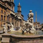 Piazza Navona Fontana del Moro in Rom