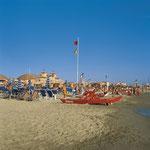Strand in Viareggio
