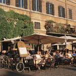 Café auf der Piazza Navona in Rom