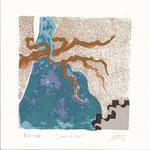 """ The tea game"" - Silk-screem on paper - 20 x 20 cm - 2013"