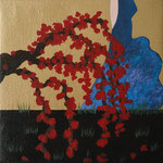 """Sakuras"" - acrylic on canvas- 16 x 16 cm - 2013"