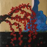 """Sakuras I"" - Acrílico s/ tela - 16x 16 cm - 2013"
