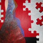 Incomplete II 120 x 150 cm acrylic on canvas - 2011