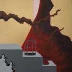 """Damas do CHá"" - Acrílico s/ tela - 20 x 20 cm - 2013"