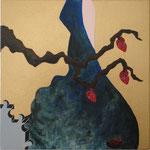 """""""Fruto do Chá"""" - Acrílico s/ tela - 20 x 20 cm - 2013"""