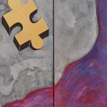 Perdidas II - acrílico sobre tela- 100 x 70 cm-2012