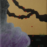 """Sakuras II"" - Acrílico s/ tela - 16 x 16 cm - 2013"