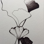 Ginkgo #3 - Caneta sobre papel - 21 x 15 cm - 2018