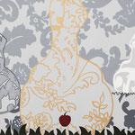 """Natureza Feminina VI"" Acrílico s/ tela  30 x 30 cm - 2017"