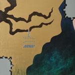 """""""Palavras em Haiku I"""" - Acrílico s/ tela - 40 x 40 cm - 2013"""