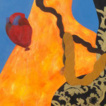 """Jardim Encantado III"" - Acrílico s/ tela - 150 x 60 cm - 2014"