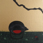 """""""Joga da Dama"""" - Acrílico s/ tela - 16 x 16 cm - 2013"""