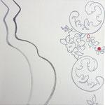 """Natureza Feminina XVIII"" Acrílico s/ tela  30 x 30 cm - 2017"