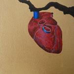 """Fruto Vermelho"" - Acrílico s/ tela - 20 x 20 cm - 2013"