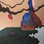 """""""Chá para 2"""" - Acrílico s/ tela - 120 x 120 cm - 2013"""