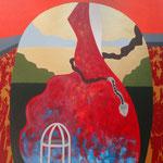 Jardim Encantado - Acrílico s/ tela - 120 x 120 cm - 2014