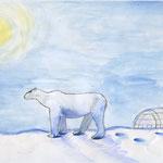 """Куликов Даниил.9 лет.Рисунок """"Житель белой пустыни"""""""