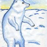 """Герасимова Марьяна. 9 лет. Рисунок """"Я белый и пушистый!"""""""