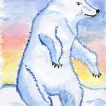 """Корзина Юлия. 9 лет. Рисунок """"Сплашем вместе, а то замерзнем!"""