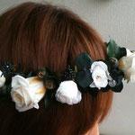白薔薇 花冠