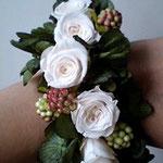 白薔薇と実