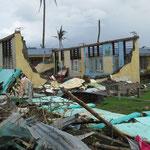 das ehemalige Klassenzimmer einer Schule von Tanauan