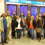 das Team zurück am Flughafen Frankfurt