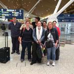 das Team beim Heimflug