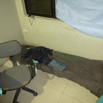 das Schlafgemach eines Teammitglieds, direkt im OP