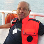 Dr. Ashley Dindoyal auf der Überfahrt nach Leyte