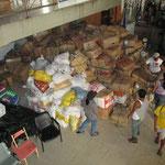 die Townhall diente nicht nur als Krankenhaus, sondern war zugleich Lager für Lebensmittel