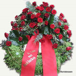 Trauerkranz mit Schleife ca.150,00 - 200,00 Euro