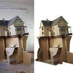 """Model """"Der geheime Handschlag"""" (digitally graded on the right side), 2011/2012"""