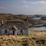 Aufgegebenes Crofthouse auf Scalpay, Isle of Harris