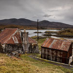 Aufgegebenes Crofthouse Fins Bay, Golden Road, Isle of Harris