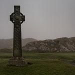 St. Martins Cross (keltisches Kreuz) vor der Iona-Abbey