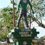"""Statue der indigenen Bevölerung """"Miskitos"""""""