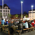 Martignyplatz am Abend
