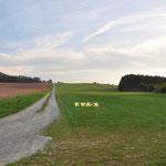 Start- und Landebahn Richtung Süden