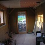 côté cuisine, les plafonds viennent d'êre finis
