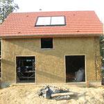 la maison à la fin du chantier participatif