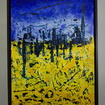 Nr. 30 Dietmar Krause,  Acryl auf Japanpapier auf Leinwand