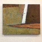 Dietmar Krause, Acryl und Flüssigmetall, teils oxidiert auf Leinwand, 50 x 70cm