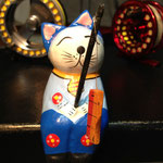 ネコが釣ってるのは、勿論魚です。猫①600円