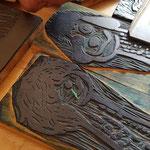 Viele Linolschnitte sind in der Schuldruckrei entstanden