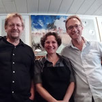Hans Dubronner zu meiner rechten und Dr. Jürgen Franssen zu meiner linken