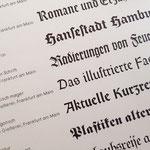 Die »Wilhelm Klingspor Gotisch« im Vergleich