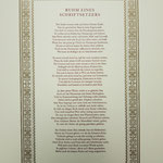 Der zweifarbig gedruckte »Ruhm eines Schriftsetzers«