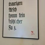 Das Plakat mit einem Zitat von Martin Luther ...